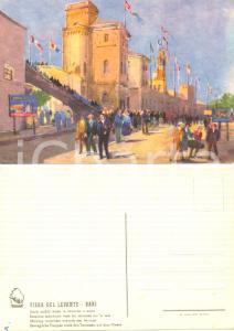 1945 ca FIERA DEL LEVANTE BARI Scale mobili TERRAZZA *Cartolina FG NV ILLUSTRATA