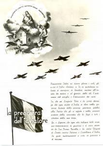 1960 ca MADONNA DI LORETO Preghiera aviatore Patrona Aeronautica Cartolina FG NV