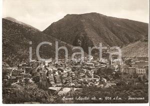 1955 ca SCANNO (AQ) Panorama del paese *Cartolina FG VG