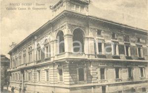 1917 ASCOLI PICENO Nuovo edificio Cassa di Risparmio *Cartolina postale FP VG