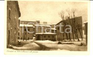 1930 ca OVINDOLI (AQ) Veduta della piazza innevata *Cartolina FP NV