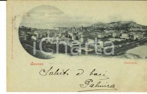 1901 ANCONA Panorama della città *Cartolina postale VINTAGE FP VG