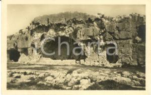 1940 ca SIRACUSA Teatro greco NINFEO o Fontana Sacra *Cartolina postale FP NV