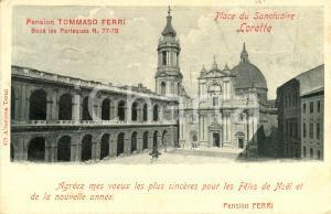 1902 LORETO (AN) Veduta della piazza del SANTUARIO *Cartolina postale FP VG