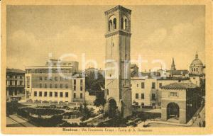 1947 MANTOVA Via Francesco CRISPI con Torre SAN DOMENICO *Cartolina FP VG