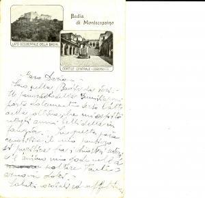 1922 ABBAZIA MONTECASSINO Vedutine lato occidentale e cortile BRAMANTE *FP VG