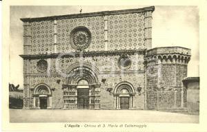 1940 ca L'AQUILA La chiesa di SANTA MARIA di COLLEMAGGIO *Cartolina FP VG