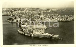 1931 SIRACUSA Veduta panoramica della città dall'alto *Cartolina postale FP VG