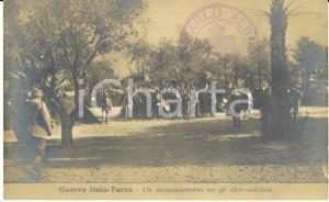 1911-12 LIBIA GUERRA ITALO-TURCA Un accampamento tra gli ulivi nell'oasi *FP NV