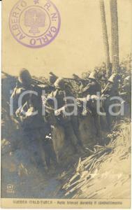 1911-12 LIBIA GUERRA ITALO-TURCA Nelle trincee durante il combattimento *FP NV