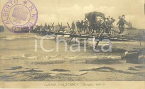 1911 BENGASI (LIBIA) GUERRA ITALO-TURCA Lo sbarco delle truppe italiane *FP NV
