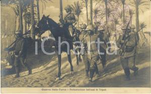 1911 LIBIA GUERRA ITALO-TURCA Perlustrazione dell'oasi di TRIPOLI *Cartolina FP
