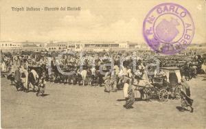 1915 ca TRIPOLI ITALIANA Il mercato del martedì *Cartolina animata FP NV