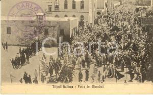1915 ca TRIPOLI ITALIANA La festa dei MARABUTI *Cartolina postale animata FP NV