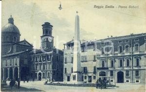 1915 ca REGGIO EMILIA Veduta di piazza GIOBERTI *Cartolina animata FP NV