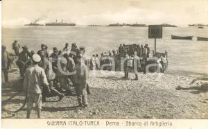 1911 DERNA (LIBIA) GUERRA ITALO-TURCA Sbarco di Artiglieria *Animata FP NV
