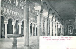 1915 ca RAVENNA Interno di SANT'APOLLINARE NUOVO *Cartolina postale FP NV