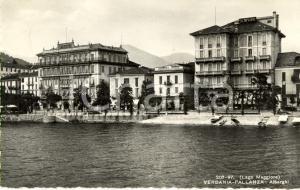 1953 PALLANZA (VB) LAGO MAGGIORE Alberghi METROPOLE, ITALIA e SEMPIONE *FP VG