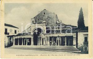 1918 CIVITA CASTELLANA (VT) Portico del Duomo - Opera dei COSMATI *Cartolina FP