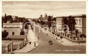 1940 ca LECCE Veduta aerea di Viale GALLIPOLI *Cartolina ANIMATA FP NV