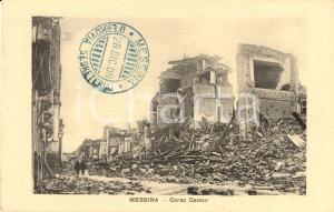 1908 MESSINA Corso CAVOUR devastato dal terremoto *Cartolina FP NV