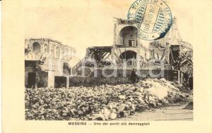 1908 MESSINA TERREMOTO Uno dei punti più danneggiati *Cartolina ANIMATA FP NV