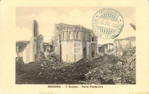 1908 MESSINA Macerie del Duomo colpito dal TERREMOTO *Cartolina FP NV