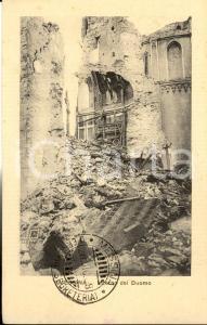 1908 MESSINA TERREMOTO Interno del Duomo ridotto in macerie *Cartolina FP NV