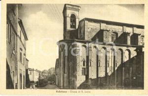 1943 FABRIANO (AN) Veduta esterna della chiesa di SANTA LUCIA *ANIMATA FP NV