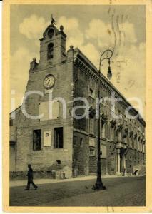 1940 ANCONA Veduta esterna del Palazzo comunale *Cartolina ANIMATA FG VG