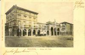 1902 BOLOGNA Veduta esterna del teatro Arena del SOLE *Cartolina ANIMATA FP VG