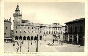 1933 BOLOGNA Piazza VITTORIO EMANUELE II con Palazzo D'ACCURSIO *ANIMATA FP VG