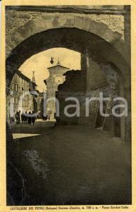 1930 ca CASTIGLIONE DEI PEPOLI (BO) Scorcio di piazza Giulio GIORDANI *FP VG