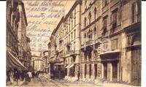 1921 ANCONA Corso Vittorio Emanuele *Cartolina a Isabella SALADINI DE MORESCHI