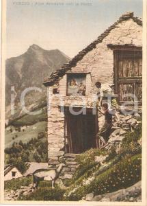 1940 ca VIGEZZO (VB) Alpe Arvogno con la PIODA *Prova di stampa per Cartolina