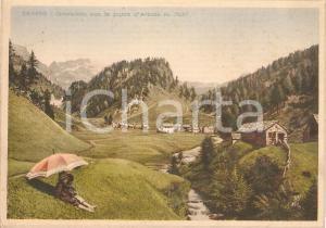 1940 ca DEVERO (VB) Crampiolo con PUNTA D'ARBOLA *Prova di stampa per Cartolina