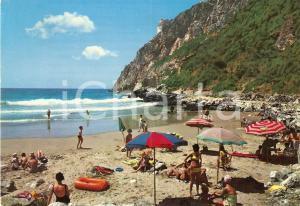 1970 SAN FELICE CIRCEO (LT) Spiaggia e scogliera di TORRE FICO Cartolina VINTAGE