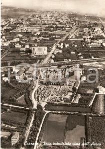 1957 CARRARA Zona industriale vista dall'aereo *Cartolina FG VG
