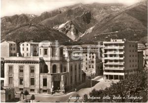 1957 CARRARA Palazzo delle Poste e Telegrafi *Cartolina FG VG
