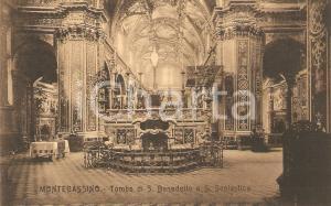 1930 ca MONTECASSINO (FR) Tomba SAN BENEDETTO SANTA SCOLASTICA *Cartolina FP NV