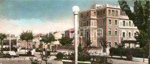 1959 FALCONARA MARITTIMA (AN) Scorcio di Piazza Colombo *Cartolina PANORAMICA