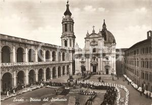 1959 LORETO (AN) Processione nella piazza del SANTUARIO *Cartolina FG VG