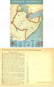 1936 Carta AFRICA ORIENTALE *VI Campagna Nazionale Antitubercolare CROCE ROSSA