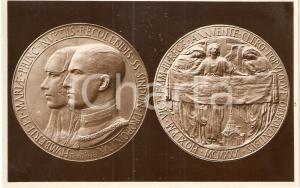 1931 TORINO Ostensione SINDONE Medaglia ufficiale commemorativa *CARTOLINA FP NV