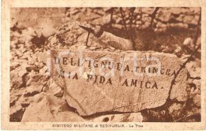 1930 ca FOGLIANO REDIPUGLIA (GO) Cimitero militare La pipa *Cartolina FP NV