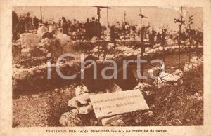 1930 ca FOGLIANO REDIPUGLIA (GO) Cimitero militare Marmitta da campo *Cartolina