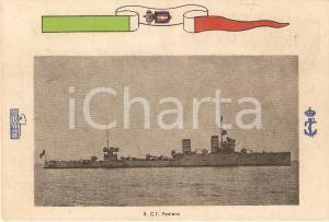 1940 ca MARINA MILITARE Regio Cacciatorpediniere PANTERA *Cartolina FG NV