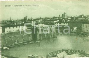 1930 ca LIVORNO Panorama della Fortezza Vecchia *Cartolina FP NV