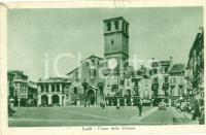 1930 ca LODI Piazza della Vittoria *Cartolina ANIMATA FP VG