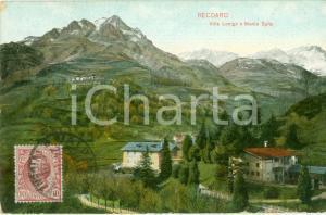 1920 ca RECOARO TERME (VI) Villa LONIGO e Monte SPITZ *Cartolina postale FP VG